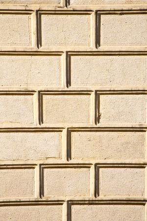 brick in legnano street lombardy italy varese pavimentazione astratta di una chiesa e marmo Archivio Fotografico