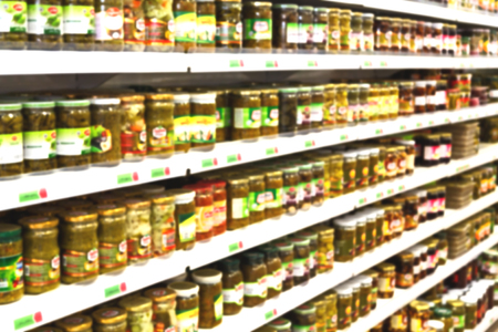 consumer products: in iran abstract supermarket blur  like lifestale concept and consumer products