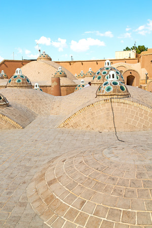 convex shape: in iran the old building roof of the antique tradition  bath