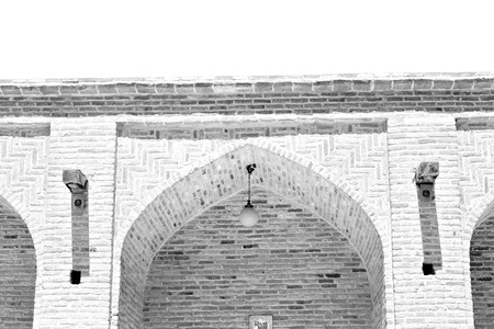 vaulting: Iran antique palace and caravanserai old contruction for travel people