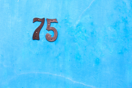embellishment: in south africa close up of the blur number in     a wall  house like texture background Stock Photo