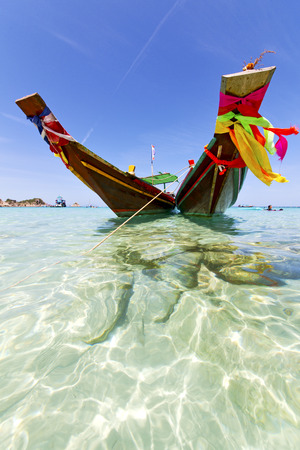 prow: thailand  in  kho tao bay asia isle blue clean water    pirogue   and south china sea