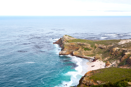 cape of good hope: blur     in south africa coastline cape of good hope  and natural park reserve