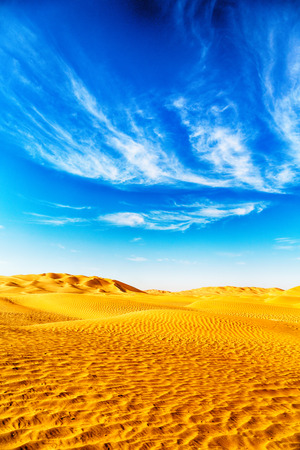 oman: the empty quarter and outdoor  sand dune in oman old desert rub al khali Stock Photo