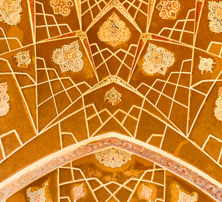 blur in iran abstract texture of the  religion  architecture mosque roof persian history Editorial