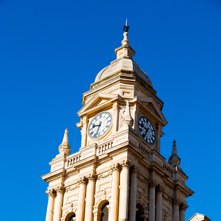 edwardian: in south africa close up of the blur city hall of cape town and clear sky