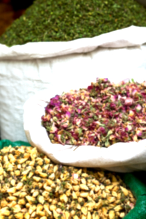 blur  in iran bazaar  old market spice ingredient for food exotic herb Stock Photo