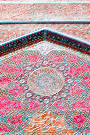 in iran  blur  islamic mausoleum old   architecture mosque mosaic