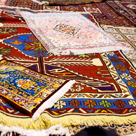 blur in iran antique carpet textile  handmade beautiful arabic ornament