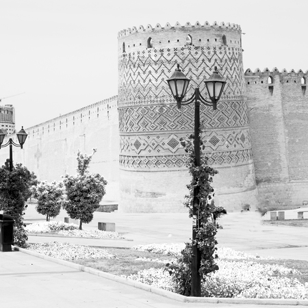 blur in iran shiraz the old castle   city defensive architecture near a garden Stock Photo