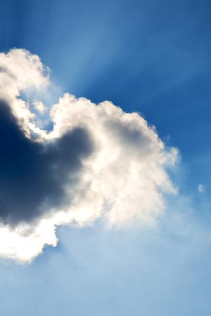 milan lombardy italy  varese abstract   ckoudy sky and sun beam Stock Photo