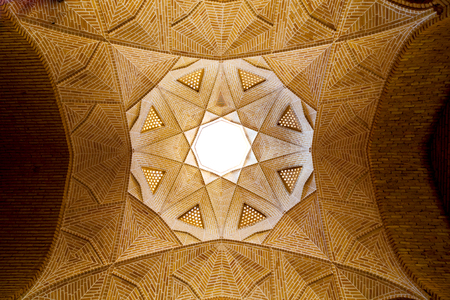 blur in iran abstract texture of the  religion  architecture mosque roof persian history Standard-Bild
