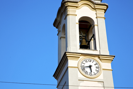 gorla   old abstract in  italy   the   wall  and church tower bell sunny day