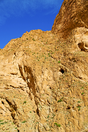 in todra africa morocco the atlas dry mountain Stock Photo