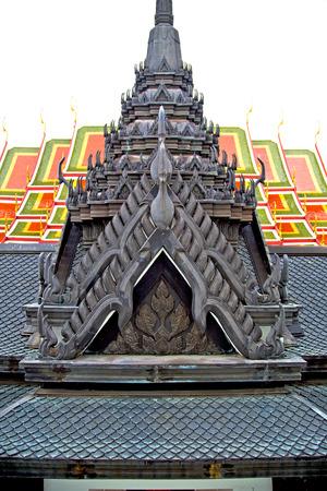 krung: kho    samui bangkok in thailand incision of the buddha gold      temple Stock Photo