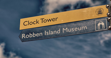 robben island: blur in south africa close up of the    sign museum  symbol  like      background