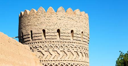 blur in iran shiraz the old castle   city defensive architecture near a garden Stock Photo