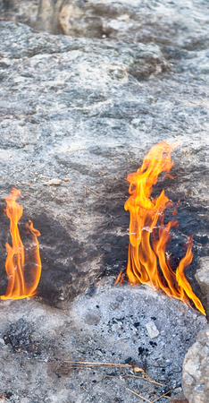 blur in turkey the chimera eternal fire from natural gas     in the rocks