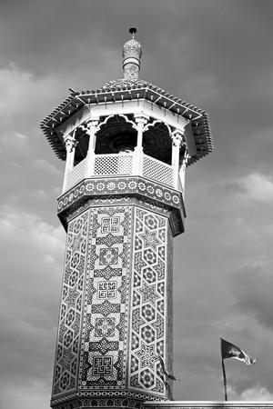 safavid: in iran  islamic mausoleum old   architecture mosque  minaret near the sky