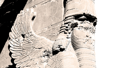 fars: blur  in iran persepolis the old  ruins historical destination monuments and ruin