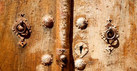 door knob: blur in iran antique door entrance and      decorative handle for background