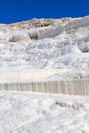 hierapolis: unique abstract in pamukkale turkey asia the old calcium bath and travertine water Stock Photo