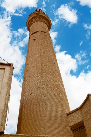 safavid: blur in iran  blur  islamic mausoleum old   architecture mosque  minaret near the  sky
