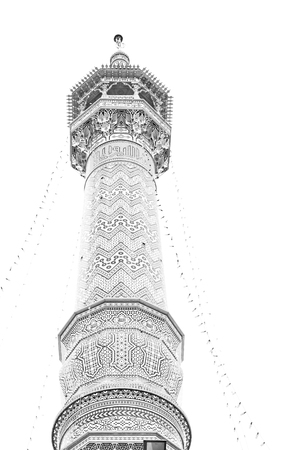 in iran  islamic mausoleum old   architecture mosque  minaret near the sky