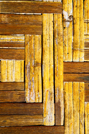 thailand abstract cross bamboo in the temple kho phangan bay asia and south china sea Stock Photo