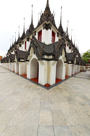 kho samui bangkok in thailand incision of the buddha gold      temple Stock Photo
