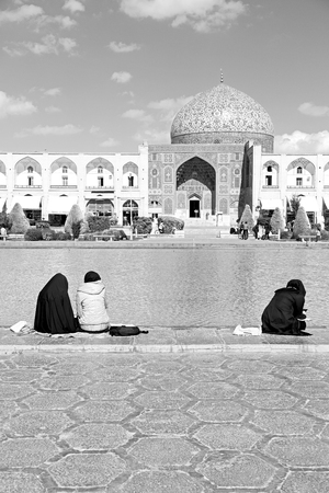 esfahan: blur in iran   the old square of isfahan prople garden tree heritage tourism and mosque