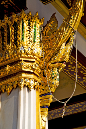 wat pho: kho samui bangkok in thailand incision of the buddha gold      temple Stock Photo