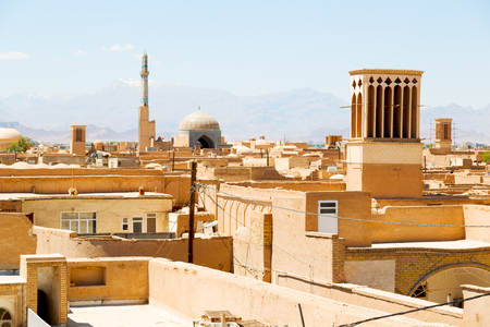 in iran the roof from yazd antique construction and history