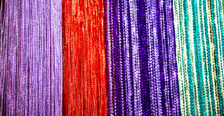 blur in iran scarf in a market texture abstract of colors and bazaar accessory  Stock Photo