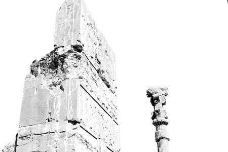 asian art: blur  in iran persepolis the old   ruins historical destination monuments and ruin