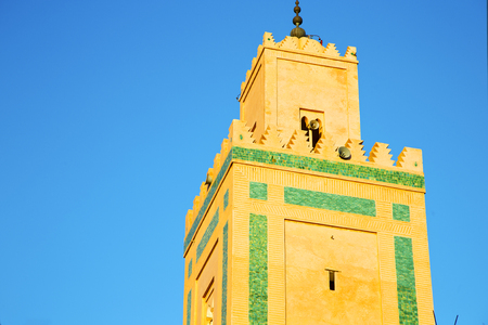 archways: in maroc africa      minaret  and the blue     sky Stock Photo