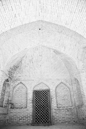 vaulting: in iran antique palace and  caravanserai old contruction for travel people Stock Photo
