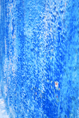 blue   in texture wall and  morocco africa abstract