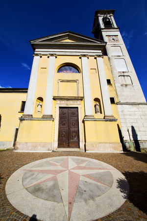 church solbiate arno varese italy the old wall terrace church bell tower plant
