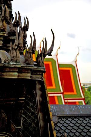 kho    samui bangkok in thailand incision of the buddha gold      temple Stock Photo
