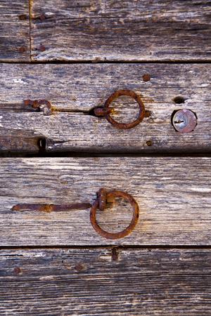 spain knocker lanzarote abstract door wood in the brown