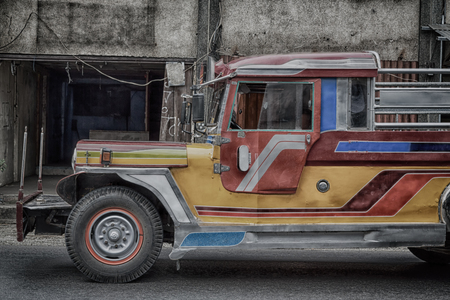 in asia philipphines the typical bus for tourist transportation Editorial