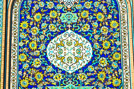 architectural styles: blur in iran the old decorative flower  tiles from antique mosque like background
