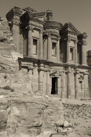 khazneh: the antique site of petra in jordan the monastery  beautiful wonder of the world