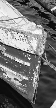 prow: philippines old dirty prow of a boat in the port like abstract Stock Photo