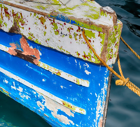navy pier: philippines old dirty prow of a boat in the port like abstract Stock Photo