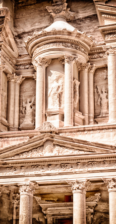 khazneh: the antique site of petra in jordan one of the beautiful wonder of the world