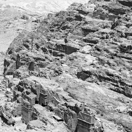 khazneh: tomb in the antique site of petra in jordan the beautiful wonder of the world