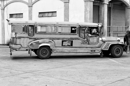 in asia philipphines the typical bus for tourist transportation Stock Photo
