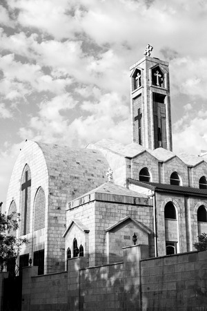 coptic orthodox: in amman jordan the chatolic church and the cross for religion